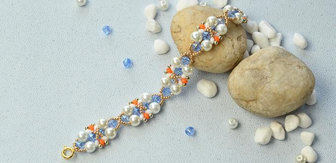 Pandahall Tutorial on How to Make a Handmade Delicate Pearl Bead Bracelet