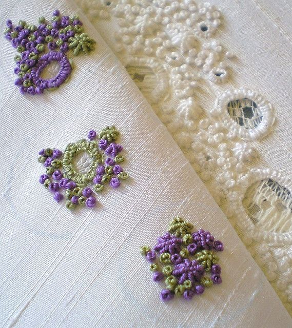 Luscious bullions & French knots!