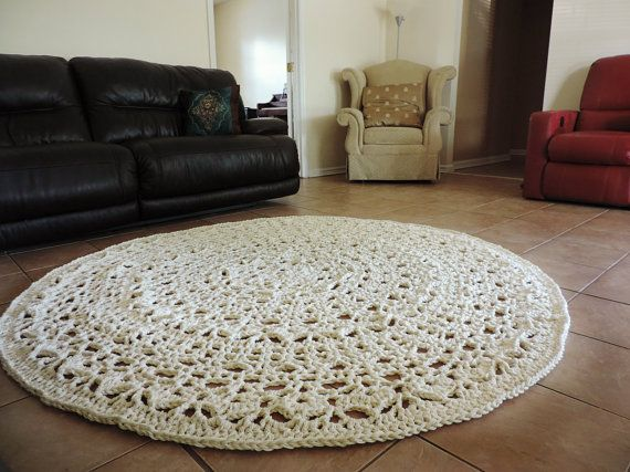 17 best images about crochet rugs on pinterest shabby for Tapis shabby chic