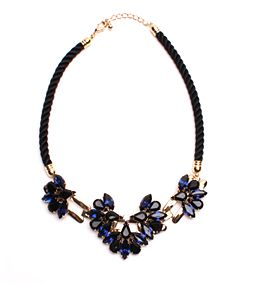 Crystal Statement Necklace, Blue Statement Necklace, Crystal Necklace ($53)