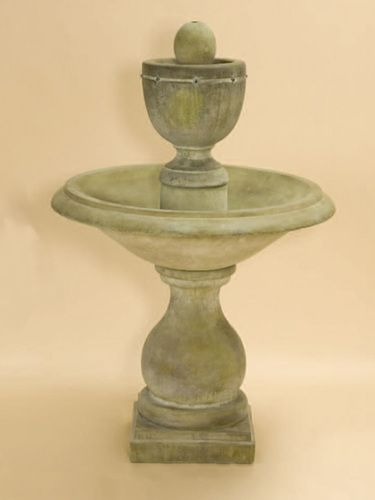 Concrete Tiered Water Feature: Giannini Garden Ornaments:  Carrara Urn: