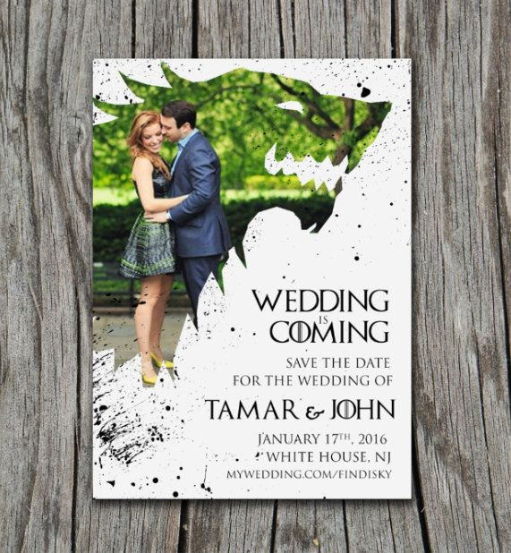 Winter Is Coming Game of Thrones Invitation/Save The Date by GraphicsbySarahJay on Etsy