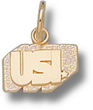 """Southern Indiana Screaming Eagles """"USI"""" 1/4"""" Charm - 10KT Gold Jewelry"": Enjoy this official NCAA licensed Southern… #onlinesports"