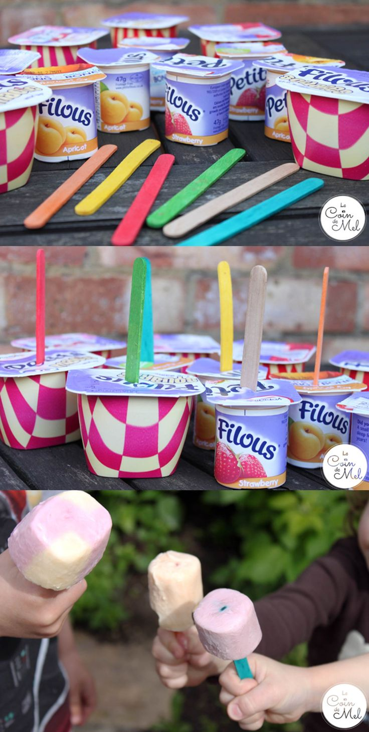 The Easiest Treat you can make for a Play Date - Frozen Petits Filous