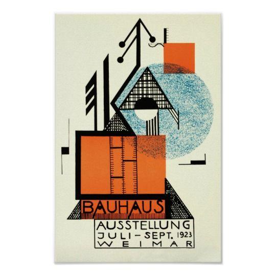 Bauhaus Exhibition Vintage Poster Art
