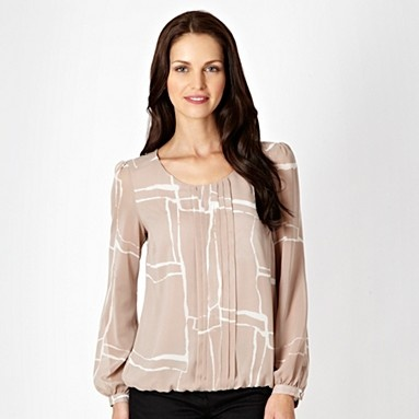 Amazing Roper Women39s Taupe And Lace Long Sleeve Western Peasant Blouse