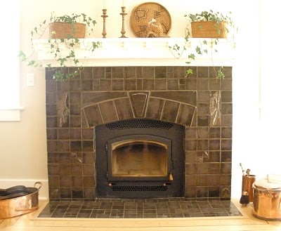 30 best images about fireplace remodel ideas on pinterest for Arts and crafts fireplace tile