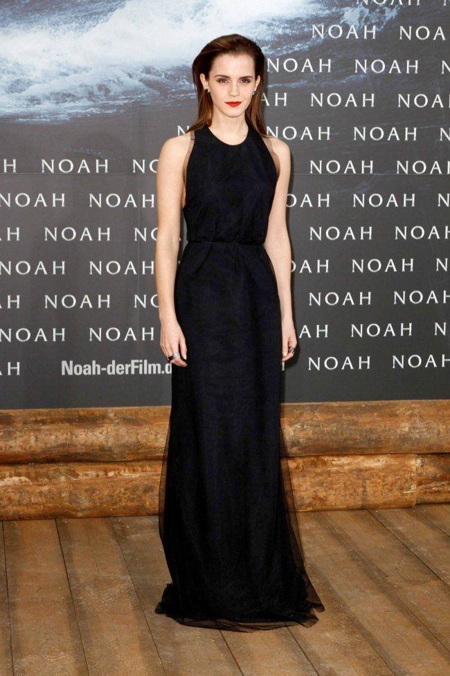 "Emma Watson Looks Simply Stunning in Wes Gordon at ""Noah"" Berlin Premiere"