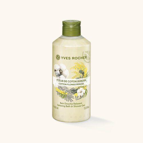Yves Rocher - cotton flower & mimosa shiwer gel / Bain Douche Relaxant Fleur de Coton Mimosa - 400ml