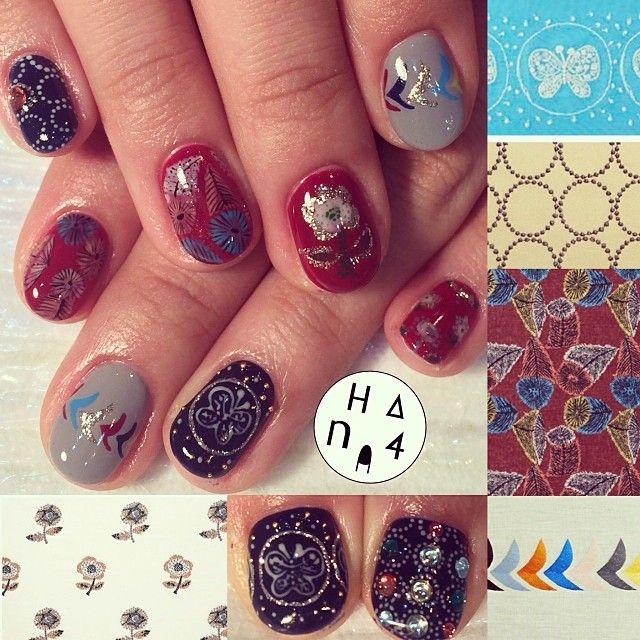 The #Japanese famous #textile #desine by #minaperphonen #ミナペルホネン の#デザイン を表現 今年も何でも描きます!! I will try to draw evrythings #nailmeetsart #hana4 #nail #hana4art #nailart #nailarts #art #nailsdone #handpaint #handpainted #paintarts #acegel #nailpartner #手描きアート #arts #アート #アートネイル #nailsbyhana4 - @Ayako Hirano- #webstagram