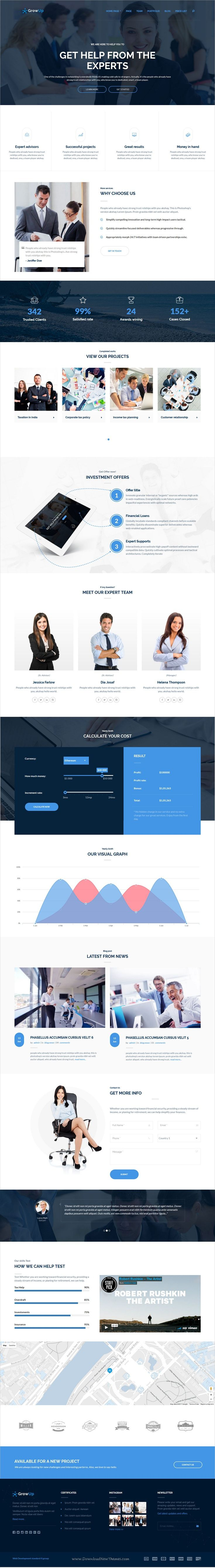 GrowUp is a modern design 6in1 professional #WordPress theme for #business and #financial websites download now➩  https://themeforest.net/item/growup-business-financial-wordpress-theme/18761663?ref=Datasata