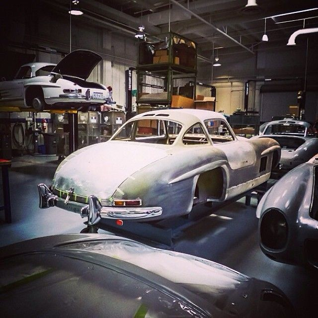 Factory restoration of a #300SL from the best in the business at the @Mercedes-Benz Classic Center. #classiccar #mercedes #benz