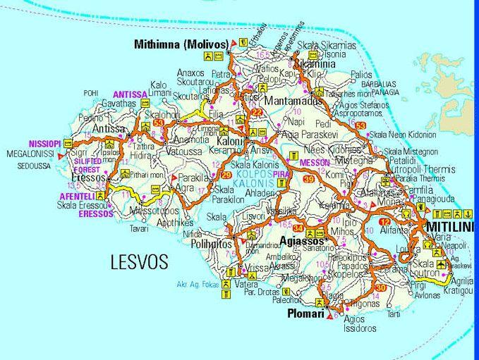 La isla de Lesvos.