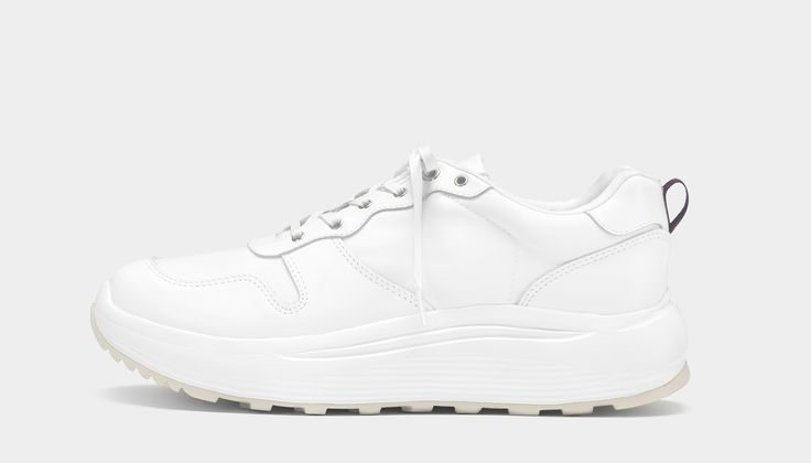 #Eytys Jet Combo White. Featuring an upper of leather and nylon, with custom made lightweight phylon midsoles, in a silhouette merging that of marathon footwear with influences from 1970s jogging shoes.