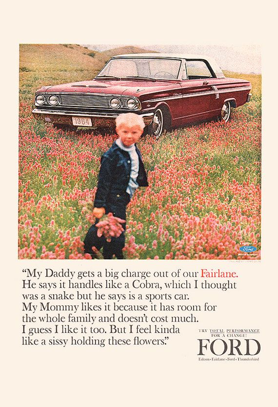 FUNNY FORD CAR Ad Must Read Car Ad Vintage by EncorePrintSociety
