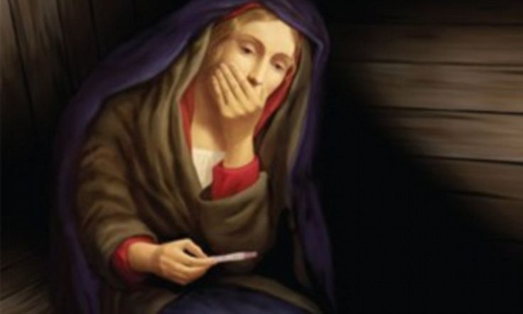 Virgin Mary and the positive pregnancy test: Church launches controversial advert campaign in time for Christmas