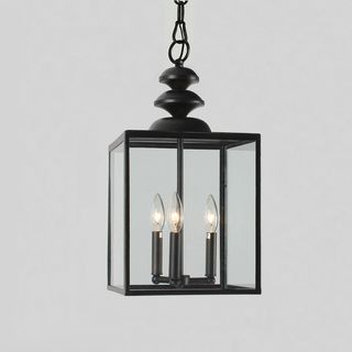 Antique Bronze 3-light Glass Caged Foyer Chandelier - Overstock™ Shopping - Great Deals on Otis Designs Chandeliers