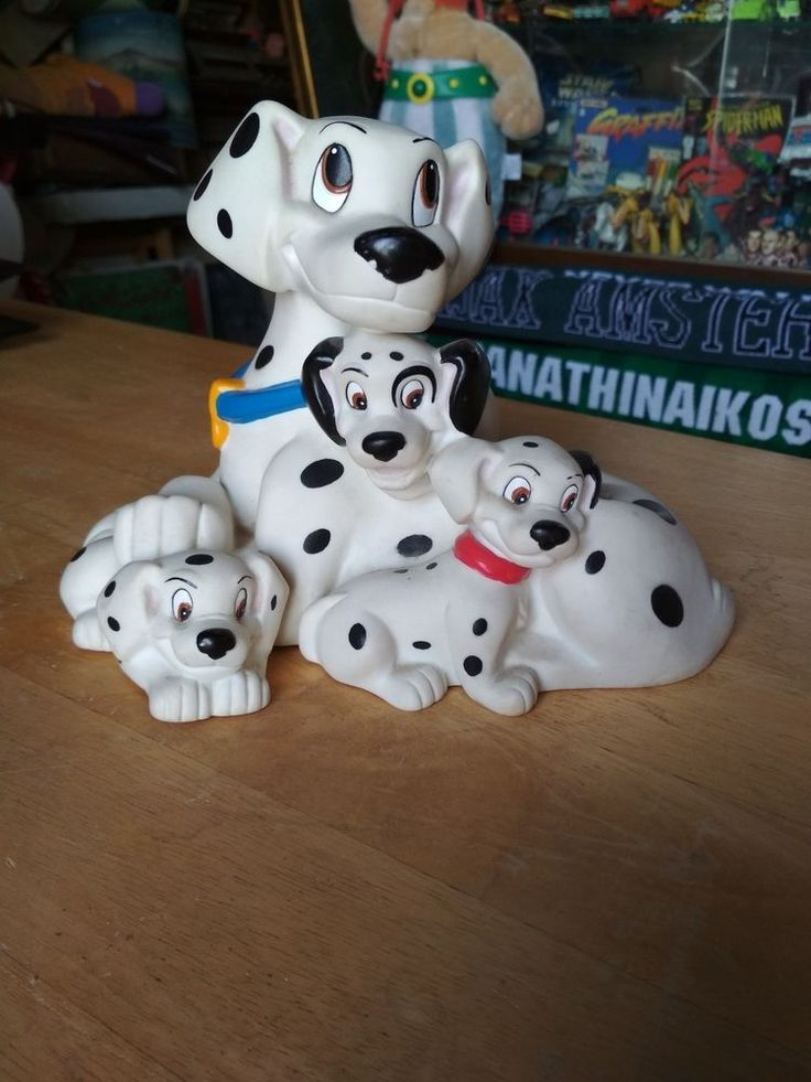 Vintage 101 Dalmatians Money Coin Bank by Bullyland