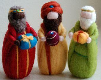 Belén y Reyes Magos Navidad cuento de lana por LeBambinediCaldalana