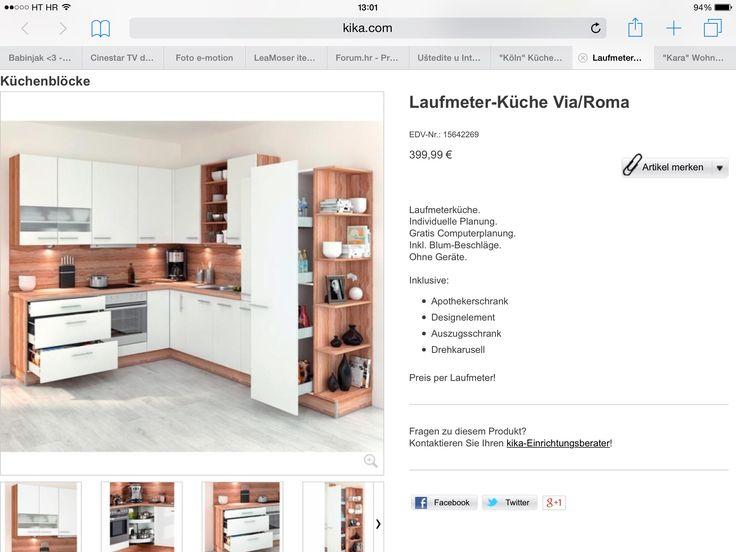 Kuhinja Kika kitchen Home Pinterest Kitchens - apothekerschrank für küche