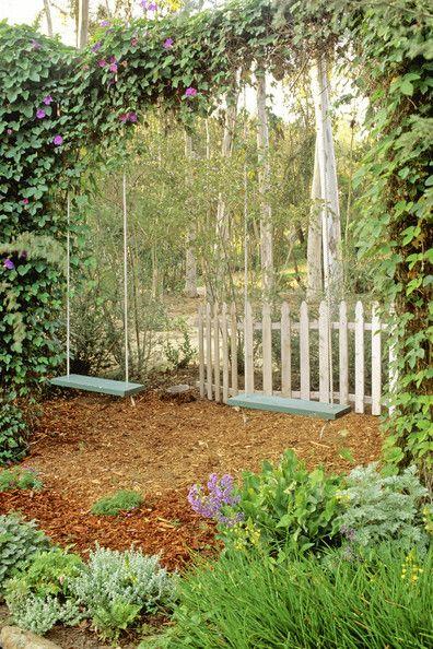 garden swings | Wooden Swings Photos, Design, Ideas, Remodel, and Decor - Lonny