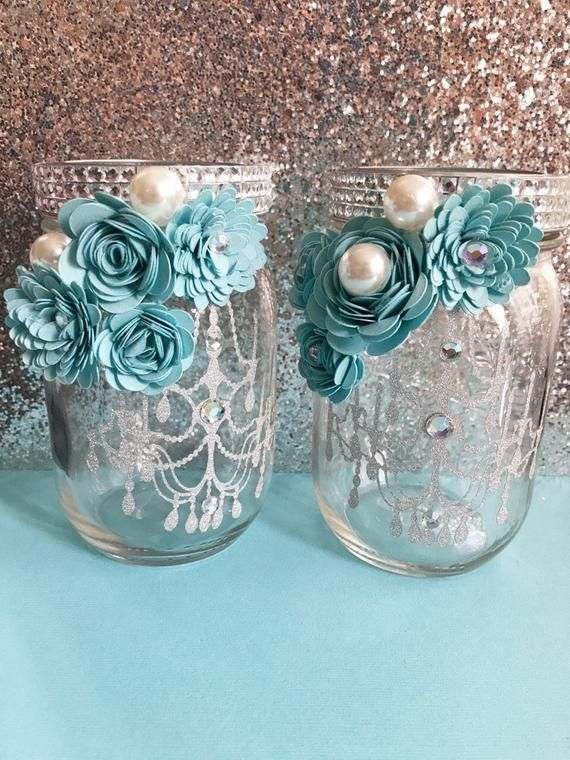 Beautiful Mason Jars Decorated With Paper Flowers You Can