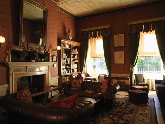 living room den study dark painted walls english