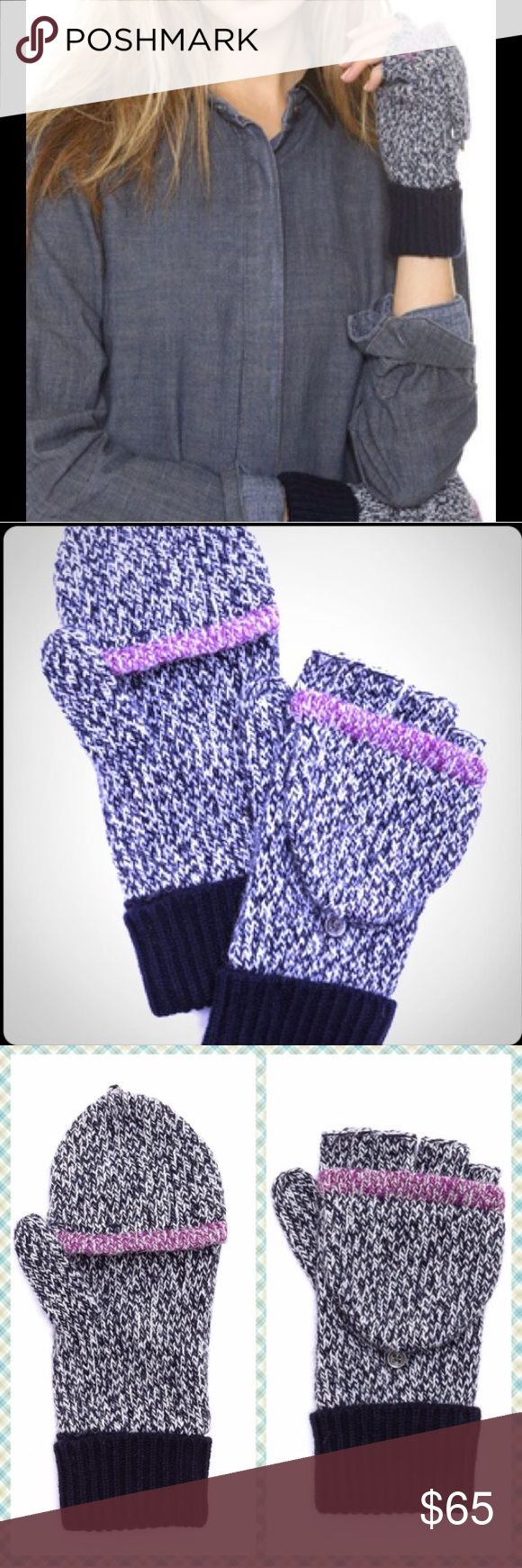 Claires black gloves - Rag And Bone Claire Fingerless Gloves
