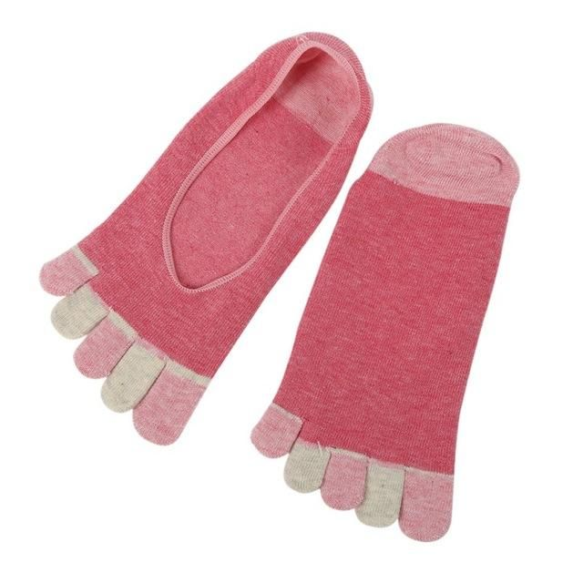 New Women Ankle Socks Five Fingers Socks Non Slip Calcetines Ciclismo Fitness Dots Warm LM75