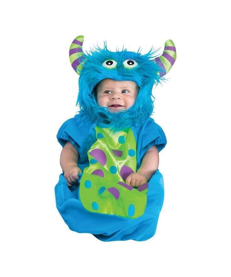 monster bunting monster bunting infant for your favorite little monster includes plush jumpsuit with dot design on front and matching hood with - Baby Monster Halloween Costumes