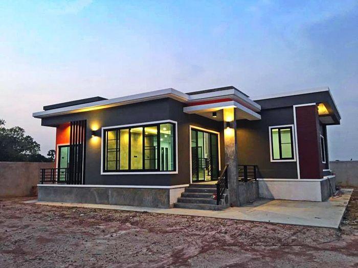 แบบบ้านโมเดิร์นลอฟท์สุดเท่ 3 ห้องนอน สวยเฉียบทันสมัย ภายใต้โทนสีเข้มขรึมเปี่ยมเสน่ห์ | NaiBann.com
