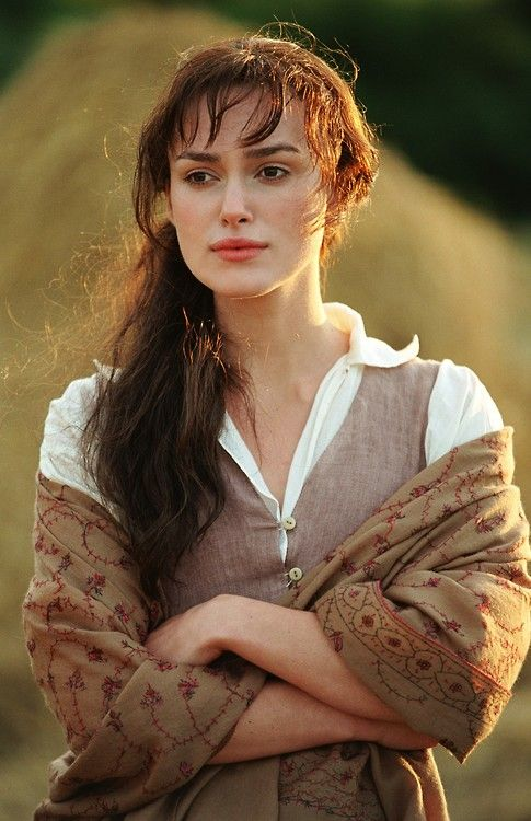 Keira Knightley as Elizabeth Bennet in Pride and Prejudice (2005).