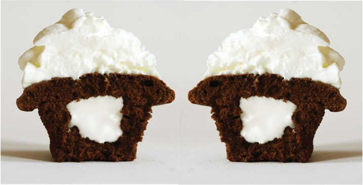Gingerbread Cupcakes with Fluffy Cream Cheese Filling