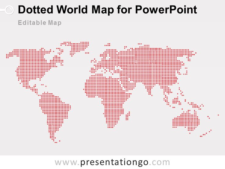 dotted world map powerpoint presentationgocom