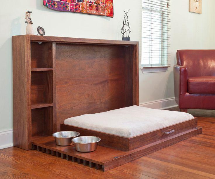 58 best bedroom images on pinterest 3 4 beds fold up for Dog bed beside bed