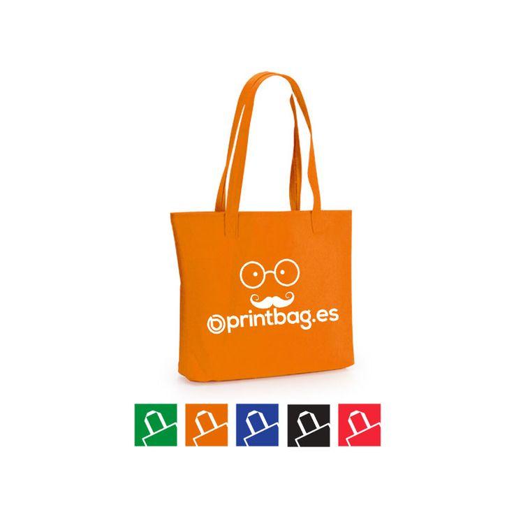 Bolsas de fieltro personalizadas color naranja