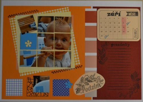 scrap kalendář září: