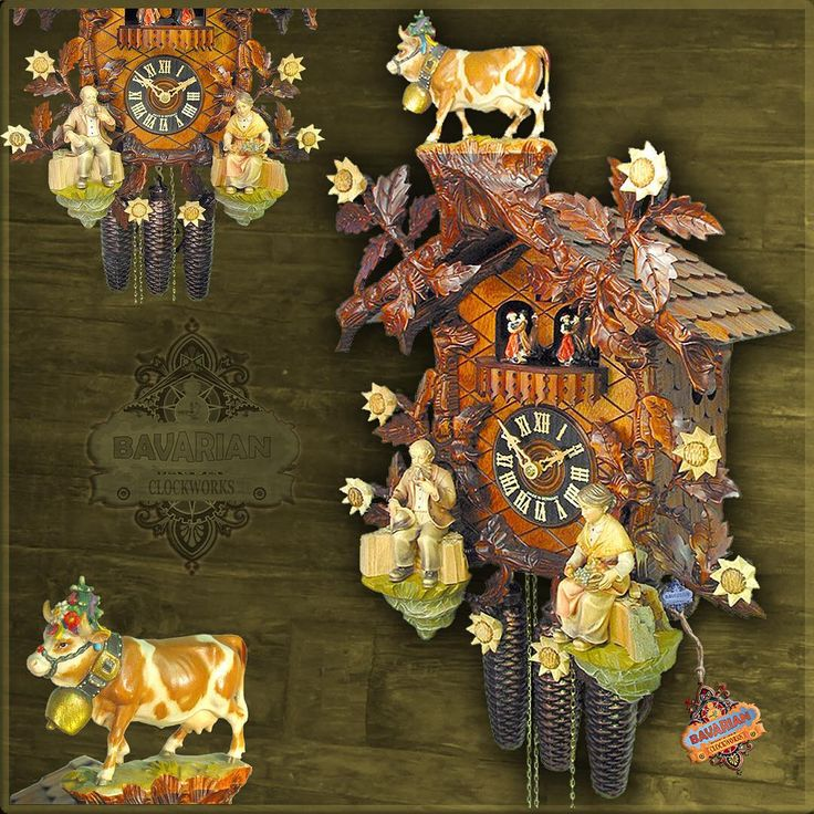 A tribute to last week's annual Almatrieb cow train festival in Nesselwang Germany. This is definitely a cuckoo clock for cow lovers. This hand carved beauty is a certified authentic Black forest original. Available in our online shop today. Enjoy!  #bavarianclockworks #countryboy #fallstyle #rustic #farmhousestyle #farmhouse #cottage #cows #flowers #bavaria #vintage #germany #fall #bavaria #farmanimals #mountains #cattle #autumn #europe #agriculture #homedecor #interiordesign #farm…