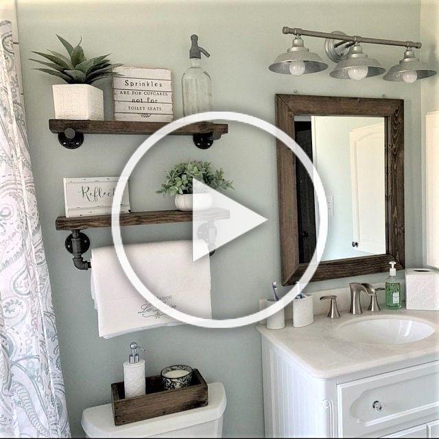 Mirror Shelves Toilet Paper Box Farmhouse Bathroom Decor Ideas Olathe Custom Furniture Store Bathroom In 2020 Diy Room Decor Home Decor Home Decor Furniture