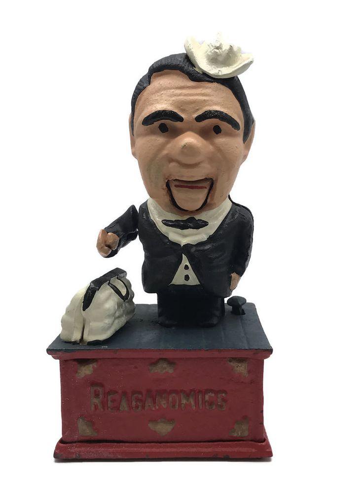 1983 President Ronald Reagan Reaganomics Supply Side Economics Mechanical Bank   Collectibles, Historical Memorabilia, Political   eBay!
