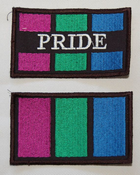 #Polysexual Pride Flag embroidered patch by PufferfishCreations ( different flag patches are availiable! )