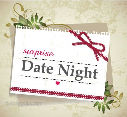 Surprise Date Night Ideas.  These are some really neat ideas you can share with your other half.