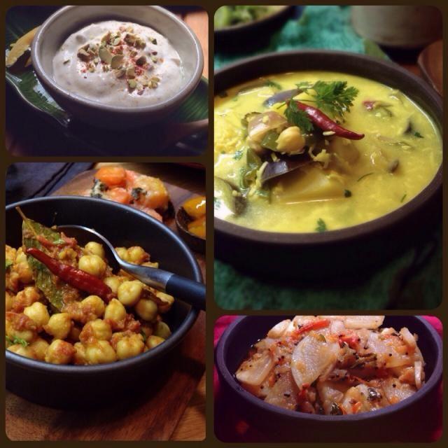 (印度菜)  南インド料理のレパートリーを増やしたくて、ゆぅさんのアヴィアルを作ってみました。プリッキーヌは普通の唐辛子、おろしココナツはココナツロングで代用しています。  これ、実はノンオイルですごくさっぱりしているんですね!  ココナツのコクと旨味で満足感いっぱいなのに、とってもヘルシーですっごくいいです!  また作ります!   ゆぅさん、ヘルシーで美味しいレシピをありがとうございました  他のは最近作ったインド料理です。  左上 シュリカンド(水切りヨーグルト、ピスタチオ、カルダモンのデザート)  左下 チリチャナ(ひよこ豆のカレー)  右下 スリランカ風の大根カレー - 211件のもぐもぐ - ゆぅさんの料理 アヴィアル(右上)とインド料理いろいろ by まちまちこ