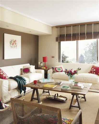 15 salones con toques de color · ElMueble.com · Salones