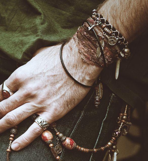 Haze Unisex Wrist Wrap GBP1500 Verablack Dark BohemianBohemian StyleMen