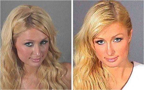 Paris Hilton...Who says you can't look good in a mug shot