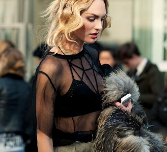 candice swanepoel #glam #fur
