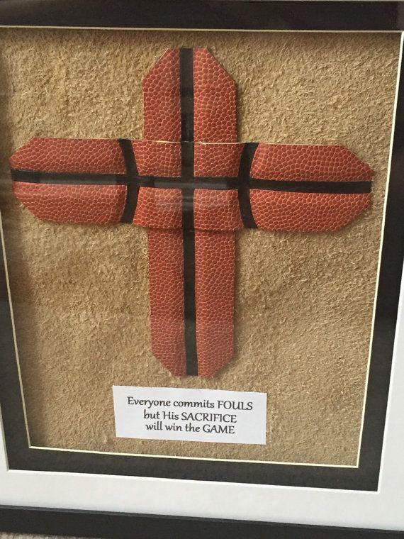 Custom Basketball Cross Fram by BeLaCreations on Etsy