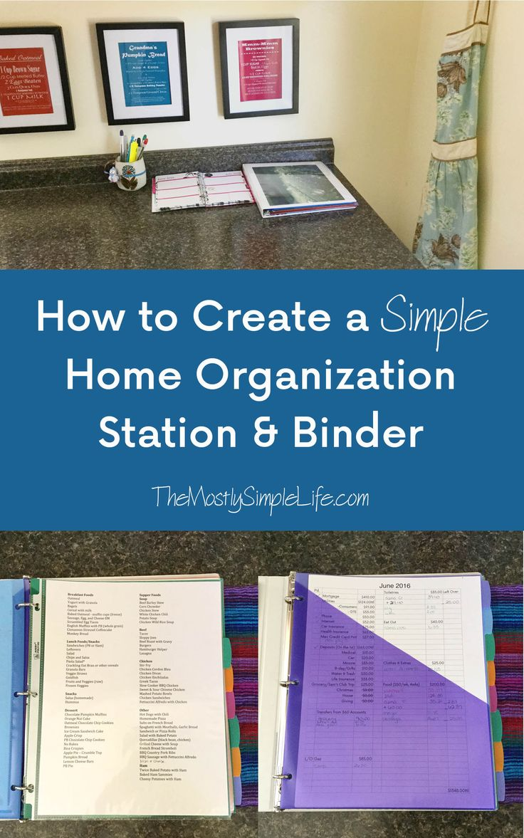 How to create a simple home organization station & binder: get organized! this quick little project can save you time and energy.