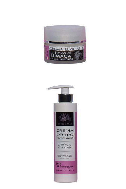Offerta Bava di lumaca: Crema levigante con acido ialuronico   Crema corpo armoniosa